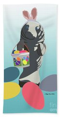 Hand Towel featuring the digital art Easter Manatee by Megan Dirsa-DuBois