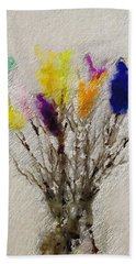 Easter Tree- Abstract Art By Linda Woods Hand Towel