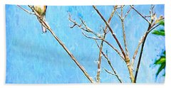 Eastern Bluebird Couple Bath Towel