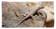 Eastern Fence Lizard, Sceloporus Undulatus Bath Towel