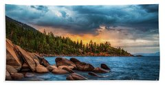 Eastern Glow At Sunset Hand Towel