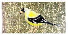 Eastern Goldfinch Hand Towel