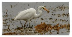 Eastern Great Egret 10 Hand Towel