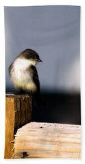 Eastern Phoebe Bath Towel by Lana Trussell