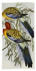 Eastern Rosella Bath Towel