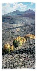Eastern Sierra Nevada Autumn Landscape Bath Towel