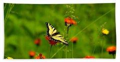 Eastern Tiger Swallowtail  Bath Towel by Debbie Oppermann