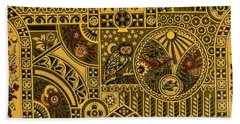 Eastlake Gilt Victorian Tapestry With Owl Hand Towel