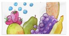 Eat More Fruit Bath Towel