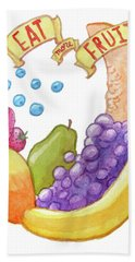 Eat More Fruit Hand Towel by Whitney Morton