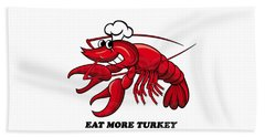 Bath Towel featuring the photograph Eat More Turkey by Marty Saccone