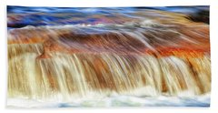 Hand Towel featuring the photograph Ebb And Flow, Noble Falls by Dave Catley