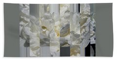 Ebony And Ivory Peony - Floral Abstract Bath Towel by Brooks Garten Hauschild