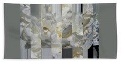 Ebony And Ivory Peony - Floral Abstract Bath Towel