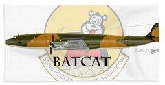 Ec-121r Batcat 553 Bath Towel by Arthur Eggers