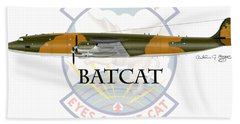 Ec-121r Batcat Bath Towel by Arthur Eggers