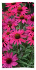 Echinacea Glowing Dream Flowers  Bath Towel