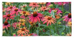 Echinacea Hot Summer Bath Towel