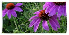Echinacea Bath Towel by Mikki Cucuzzo