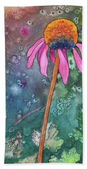 Echinacea Hand Towel by Nancy Jolley