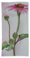 Echinacea Hand Towel by Ruth Kamenev