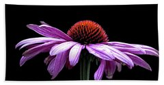 Echinacea Bath Towel by Sheldon Bilsker