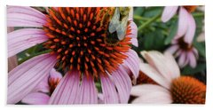 Echinacea Tea Time For Bee Bath Towel