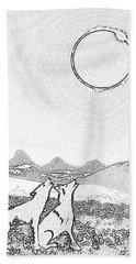 Eclipcse Graphic Pen Outline Bath Towel