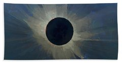 Hand Towel featuring the digital art Eclipse 2017 by Charlie Roman