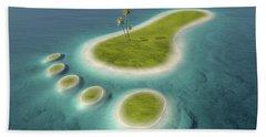 Eco Footprint Shaped Island Bath Towel