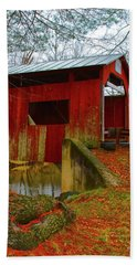 Ecther Covered Bridge Near Catawissa, Pa Hand Towel