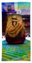 Bath Towel featuring the photograph Ecuadorian Vase Art by Al Bourassa
