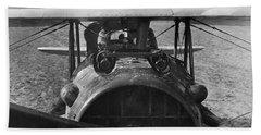 Eddie Rickenbacker - World War One - 1918 Bath Towel