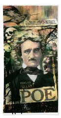 Edgar Allan Poe Bath Towel
