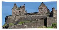 Hand Towel featuring the photograph Edinburgh Castle by Jeremy Lavender Photography
