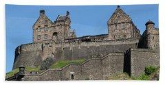 Bath Towel featuring the photograph Edinburgh Castle by Jeremy Lavender Photography