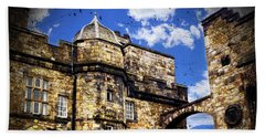 Edinburgh Castle Hand Towel by Judi Saunders