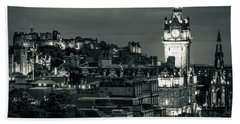 Edinburgh In Black And White Hand Towel