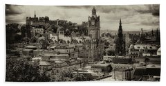Bath Towel featuring the photograph Edinburgh In Scotland by Jeremy Lavender Photography