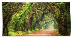 Edisto Island South Carolina Dirt Road Landscape Charleston Sc Bath Towel