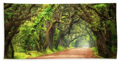 Edisto Island South Carolina Dirt Road Landscape Charleston Sc Bath Towel