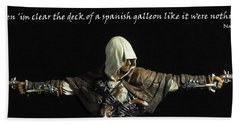 Edward Kenway Bath Towel