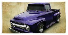 Hand Towel featuring the photograph Ef In Purple by Keith Hawley
