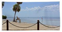 Hand Towel featuring the photograph E G Simmons Park Beach by Carol  Bradley