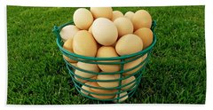 Eggs In A Basket Hand Towel