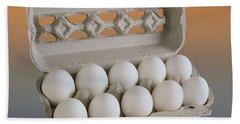 Eggs In Carton Hand Towel