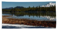 Bath Towel featuring the photograph Egret At Lava Lake by Cat Connor