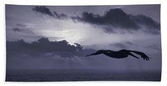 Pelican At Sunrise Bath Towel