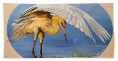 Chloe The  Flying Lamb Productions                  Egret Fishing Bath Towel