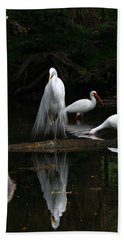 Egret Reflection Bath Towel